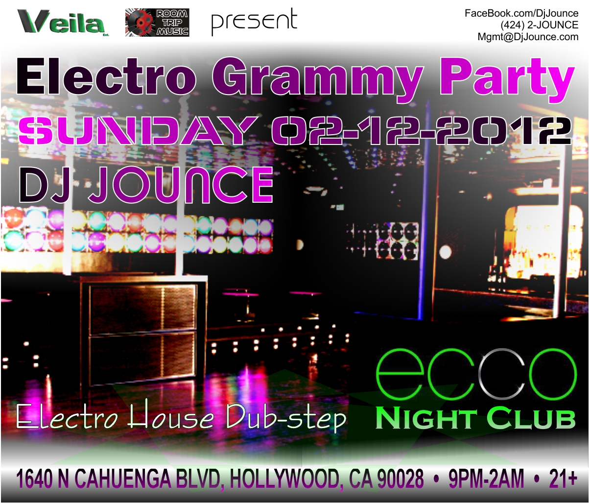 DJ Jounce Ecco Grammy Party 20120212